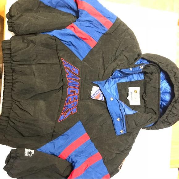 New York rangers vintage starter half zip jacket. M 5b9188be5098a0263f8aa2b6 35c491f5ac